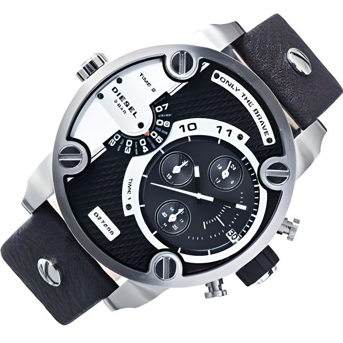 diesel montre chronographe quartz homme noir achat vente montre cdiscount. Black Bedroom Furniture Sets. Home Design Ideas
