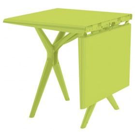 Table Pliante Sigma 115x75 Cm Vert Anis Grosfillex Achat Vente Table De Jardin Table Pliante