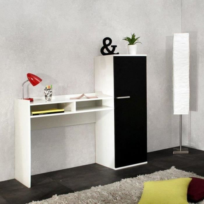 d co bureau armoire avec rangements achat vente bureau d co bureau armoire avec ra cdiscount. Black Bedroom Furniture Sets. Home Design Ideas
