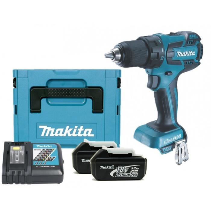 makita perceuse visseuse brushless 2x18v 3ah li ion et un. Black Bedroom Furniture Sets. Home Design Ideas