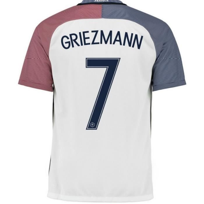 maillot homme equipe de france saison 2016 2017 flocage officiel griezmann num ro 7 prix pas. Black Bedroom Furniture Sets. Home Design Ideas