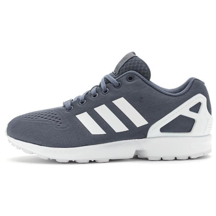 super popular bbae7 ffaa3 Baskets Adidas Originals ZX Flux EM en Course Chaussures dans Tech Encre  Gris   Blanc S80323  UK 9.5 EU 44