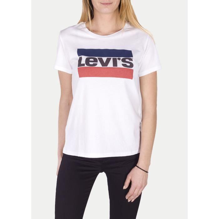 T-SHIRT LEVIS T-Shirt Logo Blanc Femme