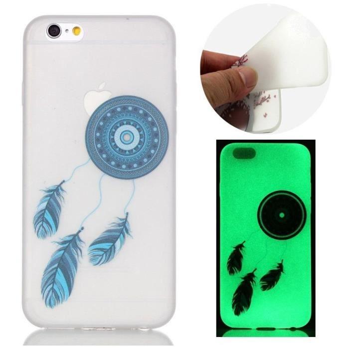coque iphone 6 silicone phosphorescente attrappe r
