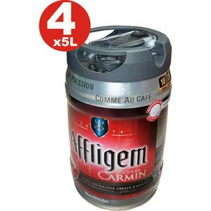 BIÈRE 4 x fut de bière Affligem Cuvée Carmine keg  5 lit