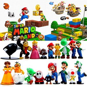 10 Pcs Set Super Mario Bros Kart Pull Back Voiture Moto