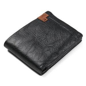 PORTE MONNAIE porte-monnaie Bifold wallet hommes véritable crédi