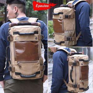 HOUSSE POUR VALISE Le nouveau sac à dos à grande capacité en toile mu