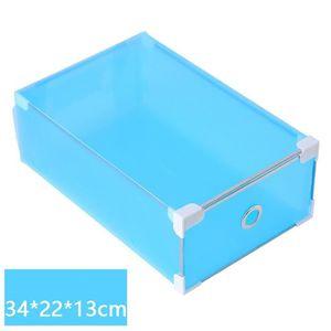 RAYONNAGE - RACK 1PC rabattable Boîte de chaussure en plastique tra