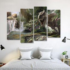OBJET DÉCORATION MURALE 4 panneaux peinture d'art en toile mise en forme d