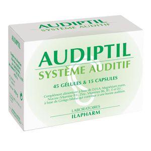 TONUS INTELLECTUEL AUDIPTIL - Audition et acouphènes - Boite de 45 gé