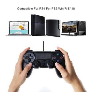 MANETTE JEUX VIDÉO JCU® Manette Filaire PR PS4 DualShock Noir Joystic