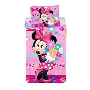 HOUSSE DE COUETTE ET TAIES Rose Mickey & Friends Parure de lit en coton avec