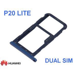 PIÈCE TÉLÉPHONE Tiroir Logement Carte Dual SIM  Huawei P20 Lite Bl