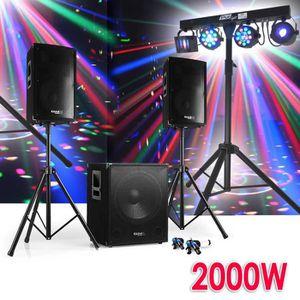 PACK SONO Pack SONO DJ CUBE 1512 + DISCO 12 2000W PIEDS + Ca