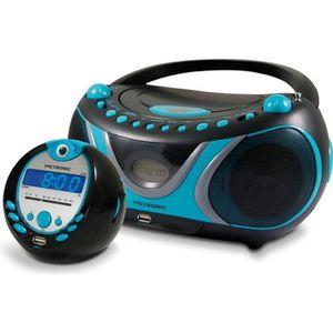 RADIO CD CASSETTE Ensemble Sportsman radio CD-MP3 USB et radio-révei
