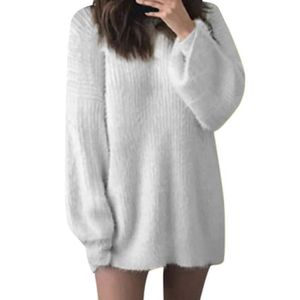 Nouveau Femmes Casual Fluffy Fur Pull Tops Automne Lâche Baggy Pull Jumper Pulls