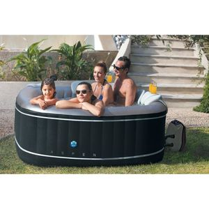 SPA COMPLET - KIT SPA Spa gonflable carré Aspen - Poolstar - 4 personnes