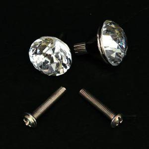 POIGNÉE - BOUTON MEUBLE 2x Poignees en alliage de zinc-cristal de tiroir