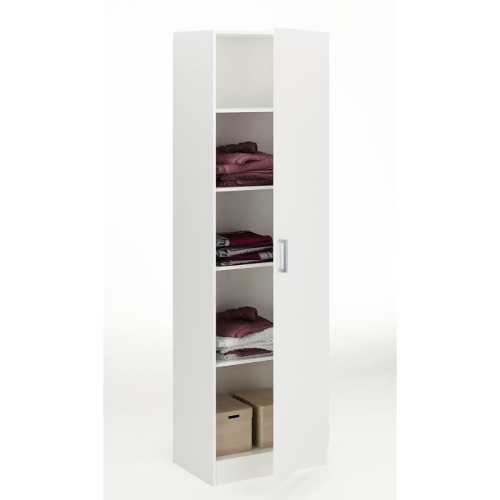 klass armoire 1 porte 4 rayons blanc achat vente. Black Bedroom Furniture Sets. Home Design Ideas