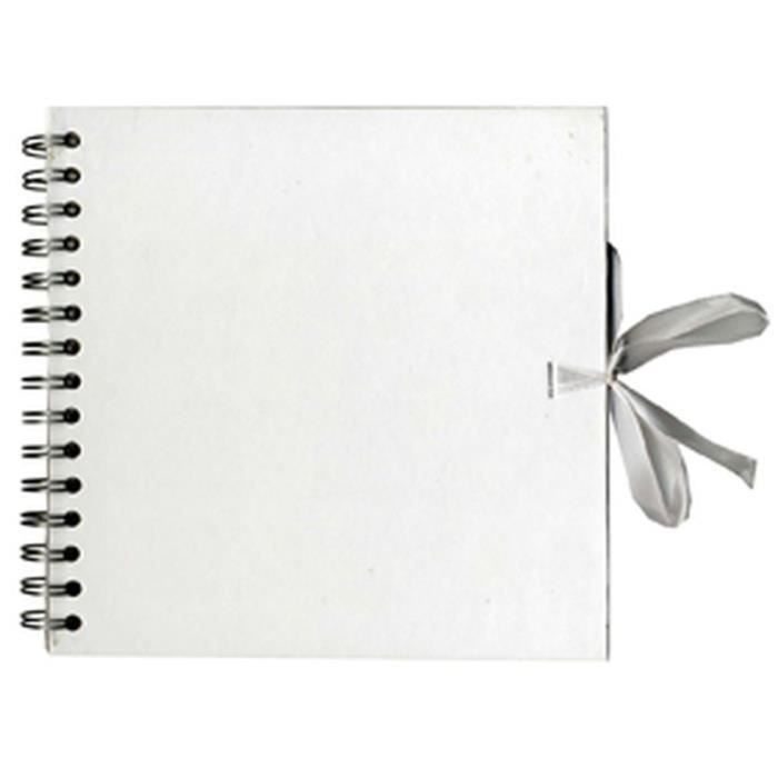 Album scrapbooking 30 cm - Blanc int. kraft - 40 feuilles - Artémio
