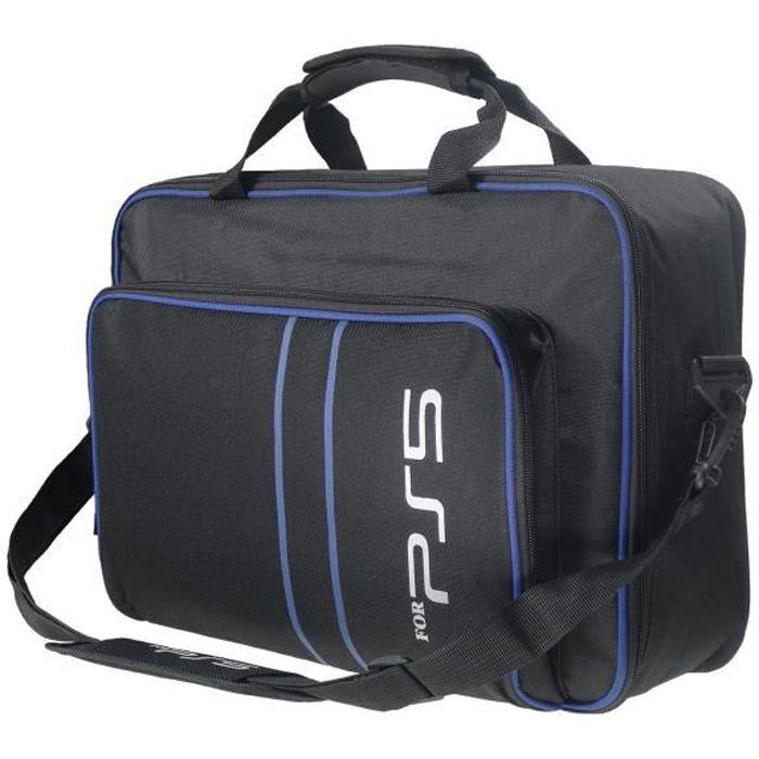 Sac pour PS5, Housse Transport pour PS5 Console Disc/Digital Edition et Manette, Sacoche Protection Étui Transport pour Playstation5