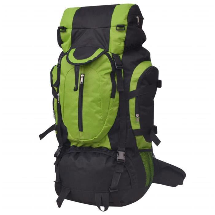 Sac à dos de randonnée XXL 75 L Noir et vert -OLL -QNQ