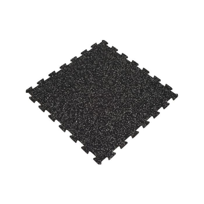 Sol pour salle de sport - Puzzle 100x100cm - épaisseur 8 mm - Noir/Gr