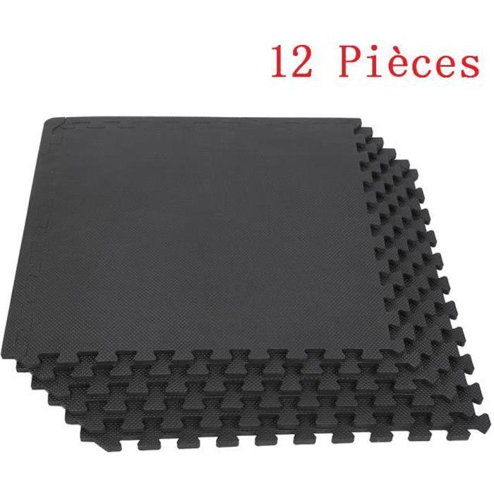 12 Dalles Tapis de protection en mousse - épaisseur 1 cm