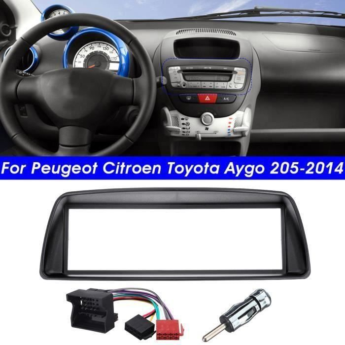 1-DIN Autoradio Stéréo Cadre Panneau de Façade d'DVD lash Installation Pour Peugeot Citroen Toyota Aygo la23536