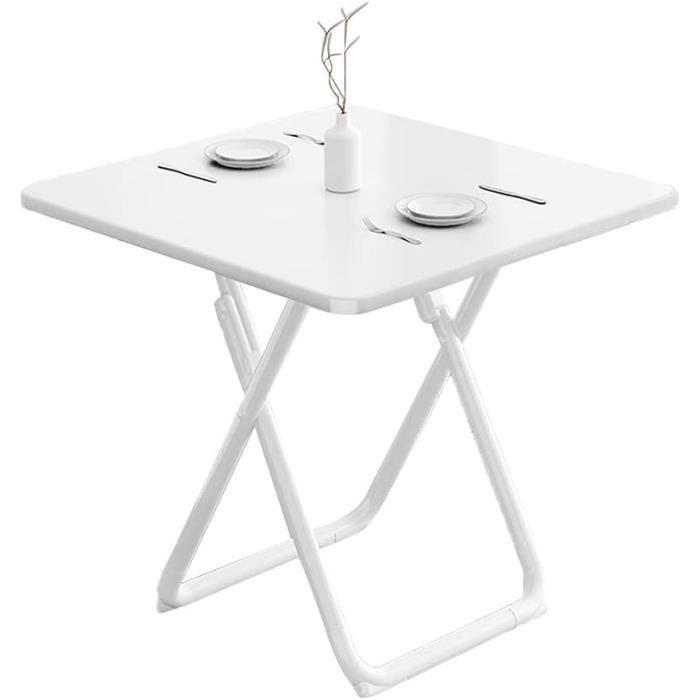 Table Pliante Pliable de Table carrée, Table à Manger, Petit Appartement Domestique, Table Ronde Simple, Table Pliante portabl[385]