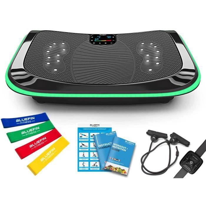Bluefin Plateforme Vibrante et Oscillante 4D Triples Moteurs Silencieux Bluefin Fitness - Idéal pour Fitness et Musculation - Appare
