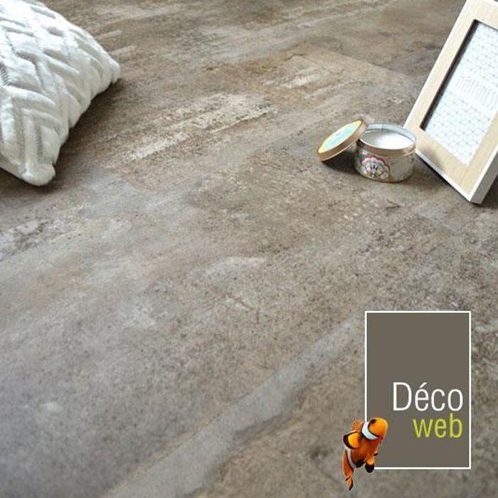 Dalles sol PVC clipsable - Click 5G - Béton grège (1,49 m²)