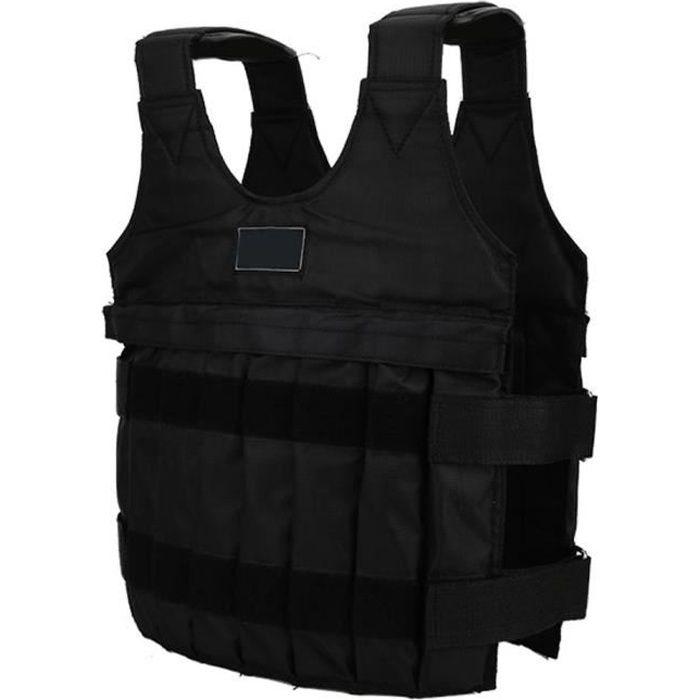 ESTINK Charge maximale 20kg Gilet lesté Gilet de formation d'exercice de veste/gilet lestés de la charge maximale réglable de 20