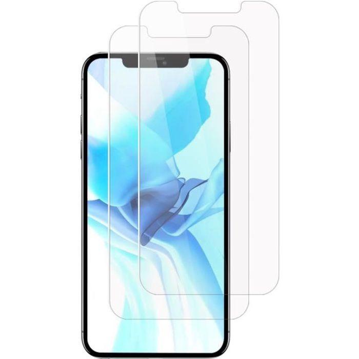 [2 Films] Verre trempé iPhone 12 MINI (2020 - 5,4-) film vitre protection transparent