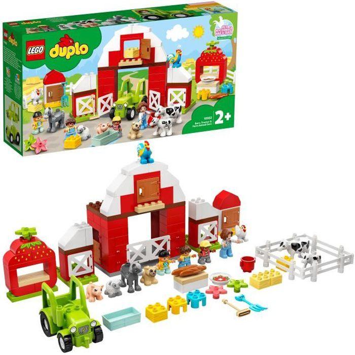 LEGO® 10952 DUPLO® Town La Grange, Le Tracteur et Les Animaux de la Ferme Jouet avec Figurines pour Enfant de 2 Ans et +