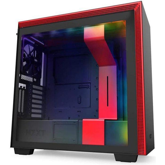 NZXT H710i Verre trempé USB 3.1 RGB Noir-Rouge Mat
