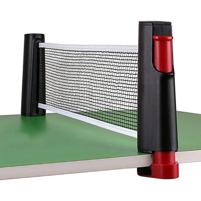 Filet Tennis Table rétractable Portable Jeux ping-Pong Net kit Remplacement ping Pong réglable Voyage Accessoires du sport