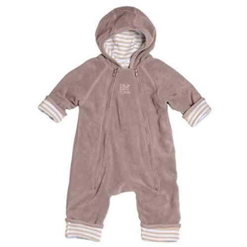 combinaison polaire Zip Up taupe rayé sable blanc taille 1 red castle