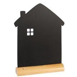 Ardoise silhouette MAISON de table Securit® - Base en bois + 1 feutre-craie liquide Blanc - 32x23x6cm