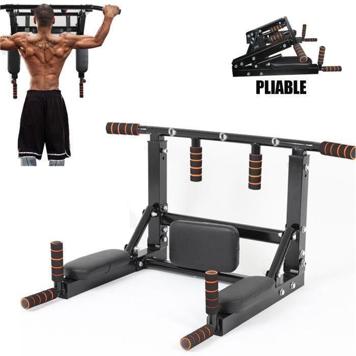 SINBIDE® Barres de Traction Murale Barre de Fitness Fixation plafond Exercices Pull Up Bar PLIABLE 150kg