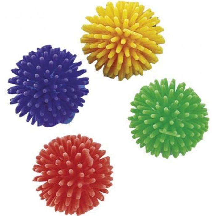 lot 4 balles a jouer pour chat - balle type hérisson 3,8 CM-Vadigran 3,000000