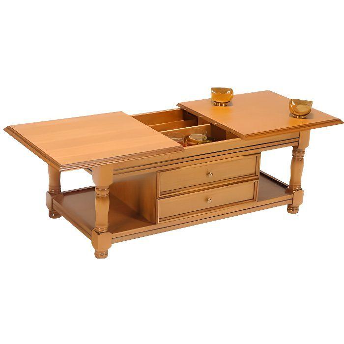 Table basse DARCY - Coffre de rangement - Coloris naturel