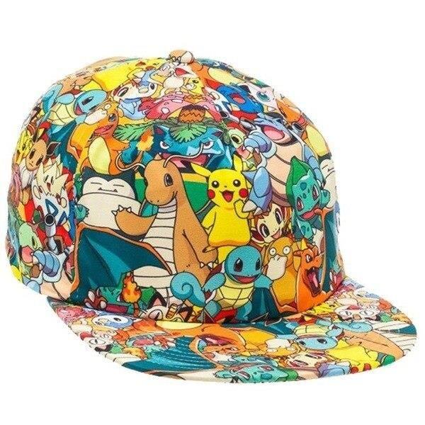 pokemon 4-Adult -Casquette de Baseball dessin animé Pokemon Pikachu, chapeau ajustable, Cosplay Hip Hop, pour filles et garçons, jou