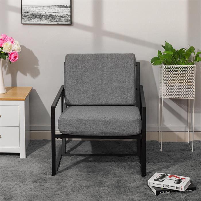 Chaise de salon - Chaise de jardin en fer forgé - Fauteuil ...