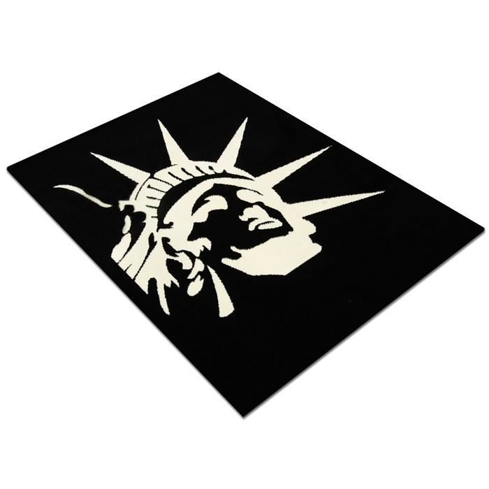 tapis statue de la libert new york noir 120 x achat vente tapis cdiscount. Black Bedroom Furniture Sets. Home Design Ideas