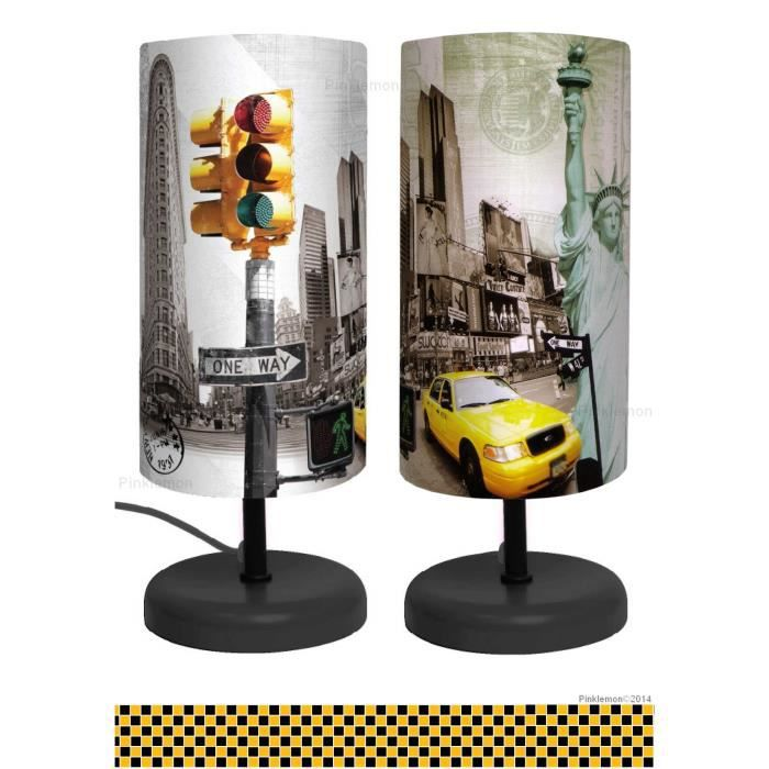 lampe de chevet new york d co luminaire taxi usa achat vente lampe de chevet new york. Black Bedroom Furniture Sets. Home Design Ideas