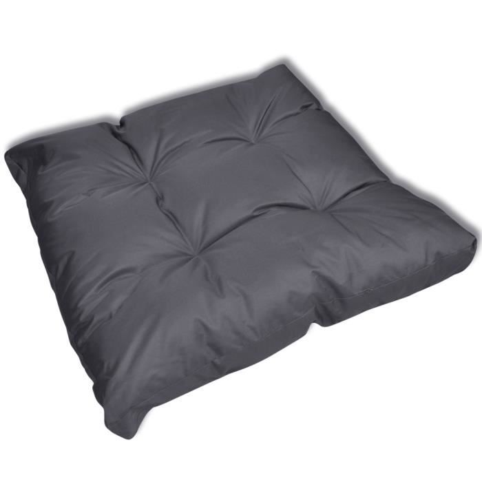 coussin de si ge 80 x 80 x 10 cm gris achat vente coussin de chaise soldes cdiscount. Black Bedroom Furniture Sets. Home Design Ideas