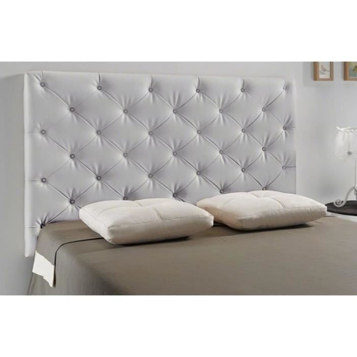 t te de lit capitonn diamond couleur gris clair mesure lit de 140 cm de large achat. Black Bedroom Furniture Sets. Home Design Ideas