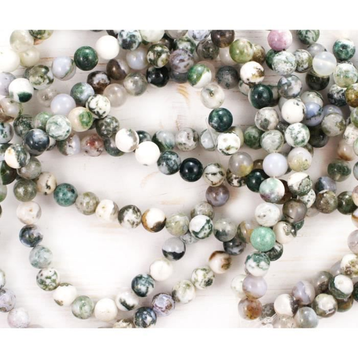 Spot Jasper Perles Rondes 4 mm bleu//blanc 95 PCS pierres précieuses Bijoux Making Crafts